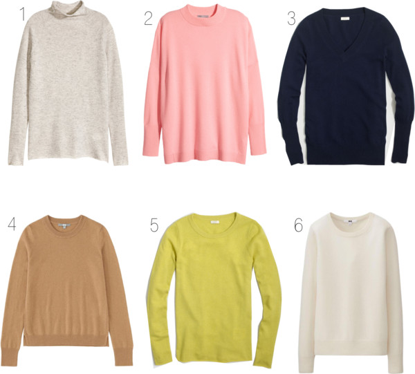 Affordable Cashmere Sweaters - RD's Obsessions