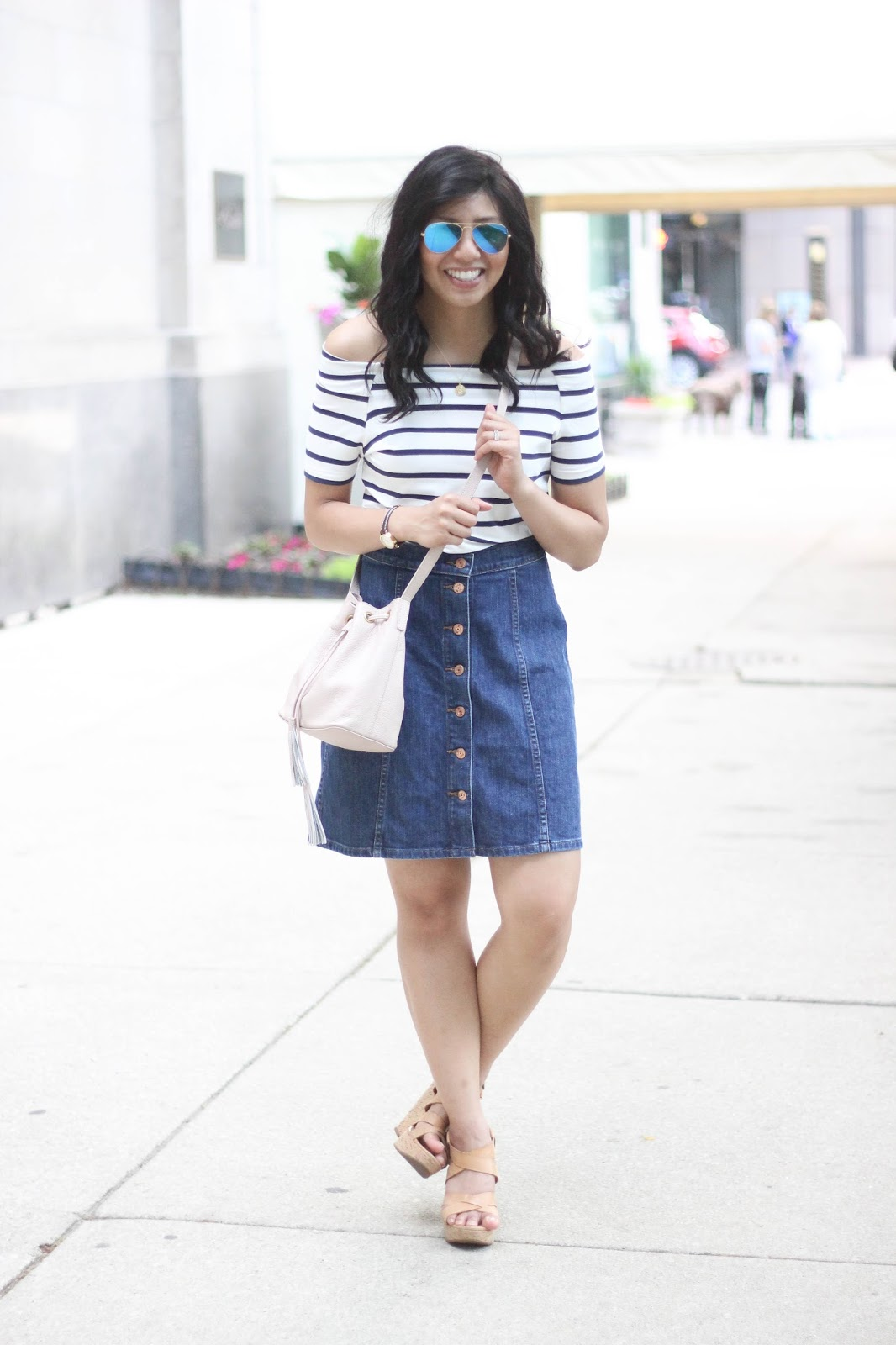 6c83afa35 Denim Skirt + Nordstrom Giveaway - RD's Obsessions