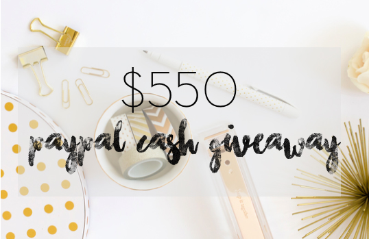 $550 PayPal Cash Giveaway