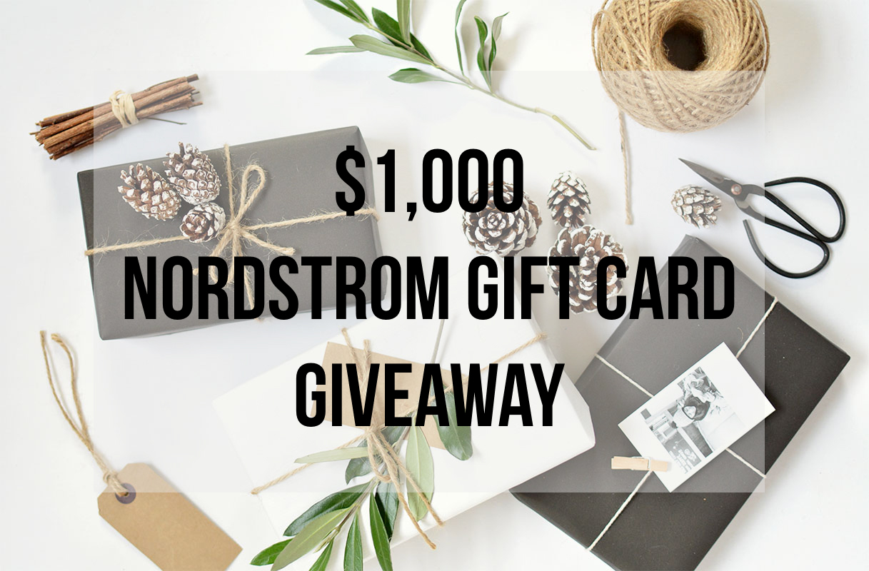$1000 Nordstrom Gift Card Giveaway - RD's Obsessions