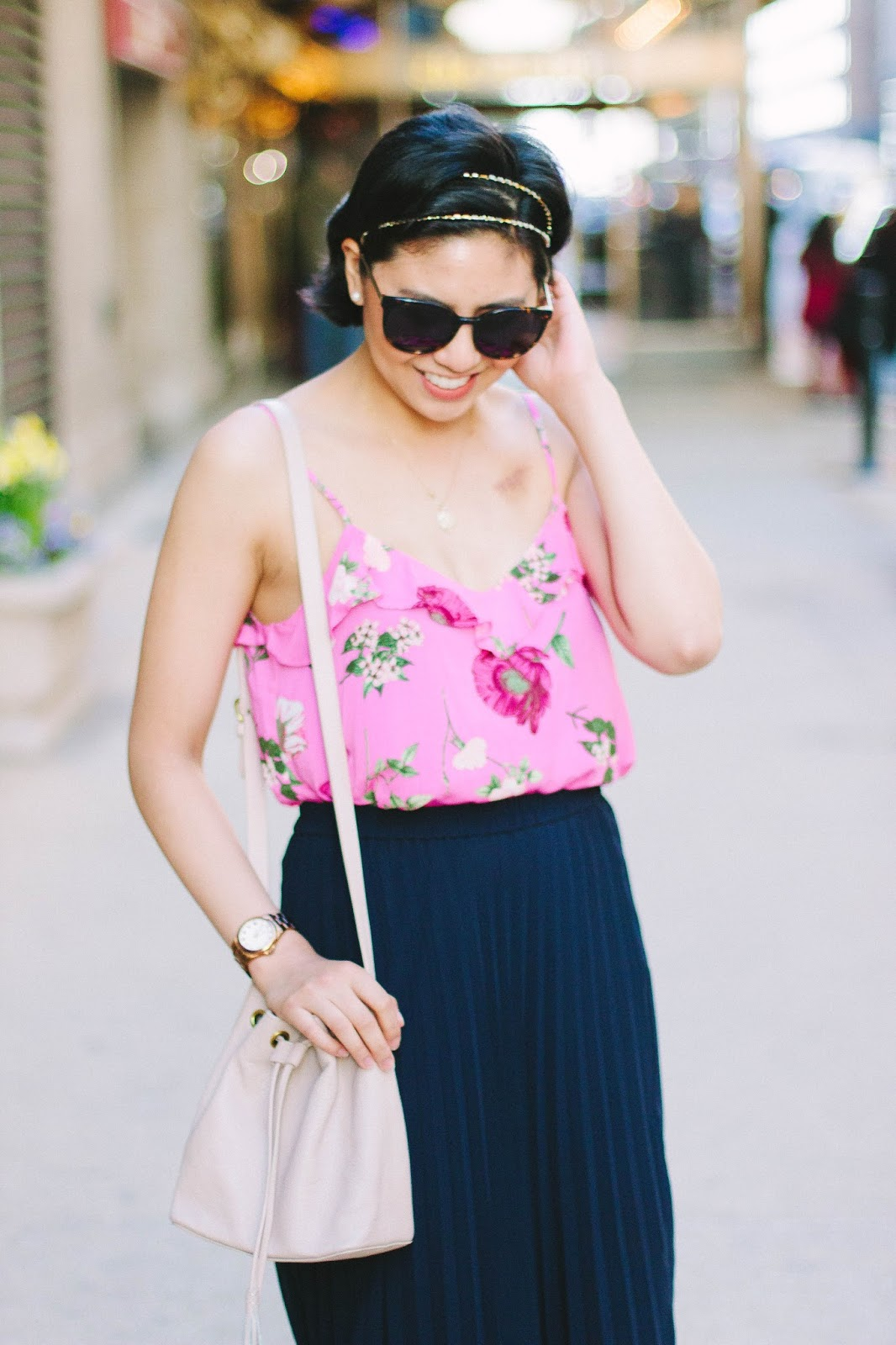 Wearing floral prints for Spring and Summer