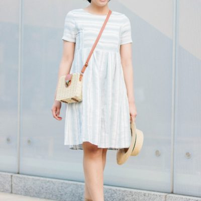 Striped Midi Dress for the Summer