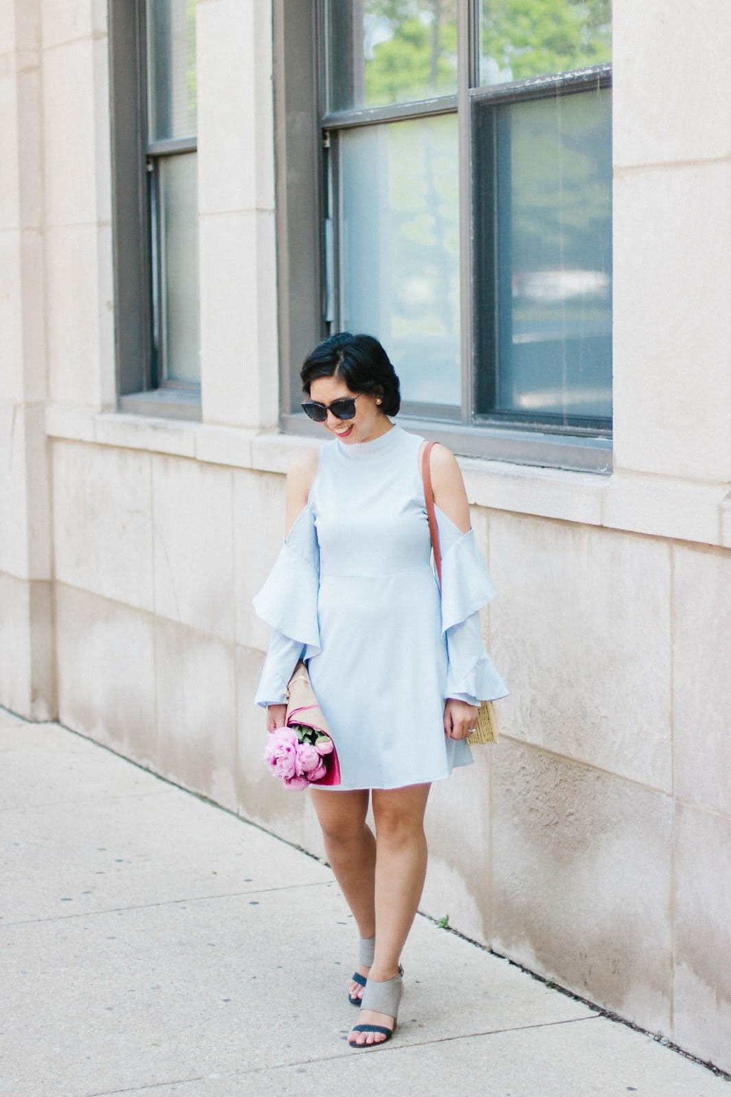 Cold-Shoulder Dress for the Summer