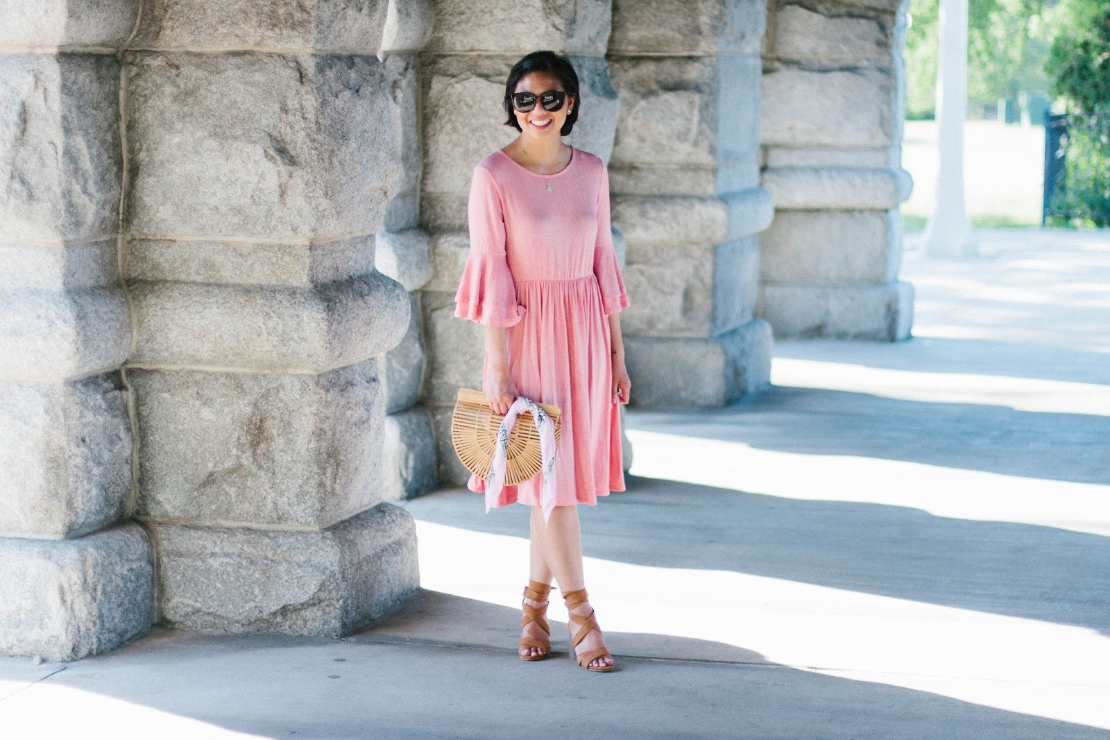 The perfect ruffled sleeved dress for the Summer