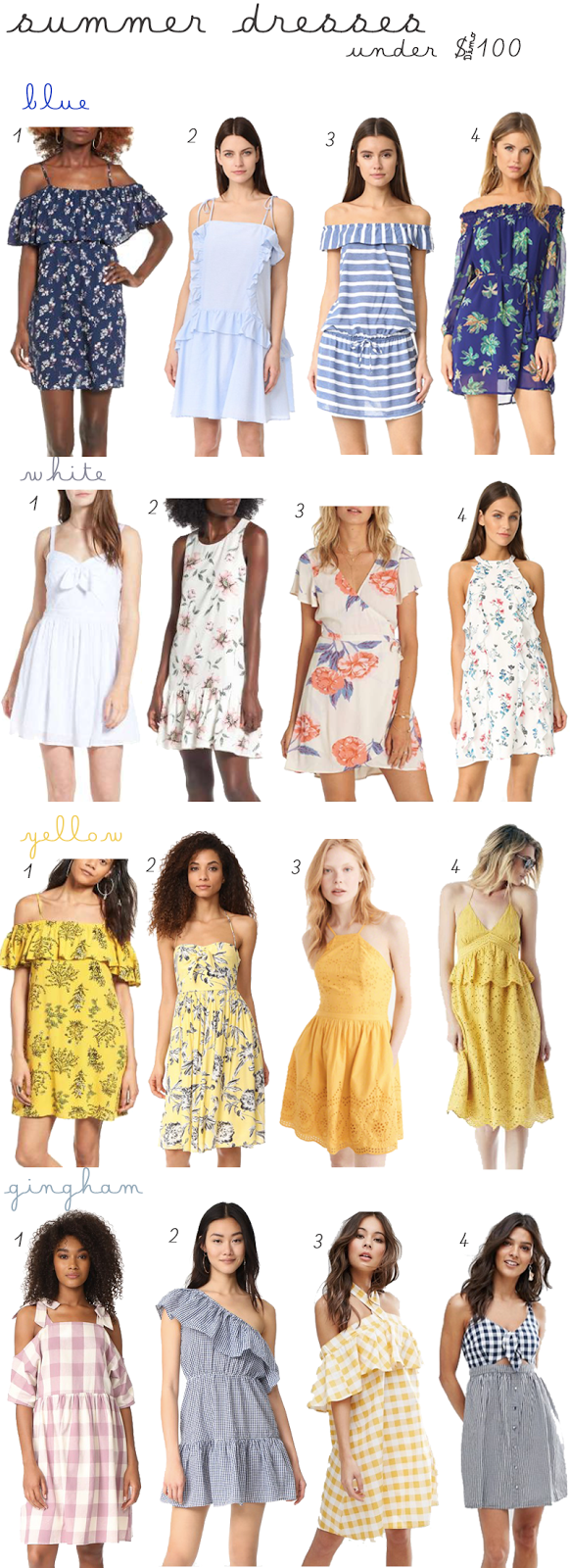 Summer Dresses for under $100