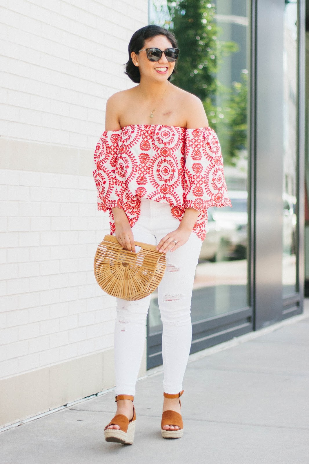 The most unique and beautiful off the shoulder top for the summer.