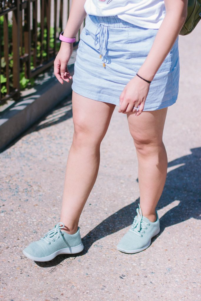 Allbirds sneakers are the most comfortable shoes. They are perfect to wear to Disney World.