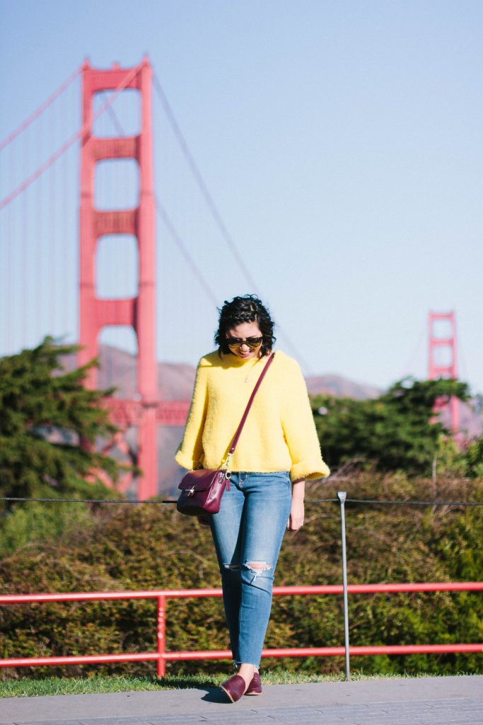 yellow sweater obsessed