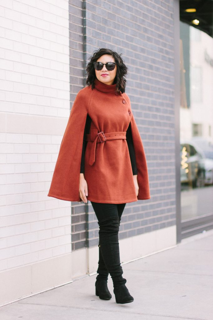 How to wear a wool cape.