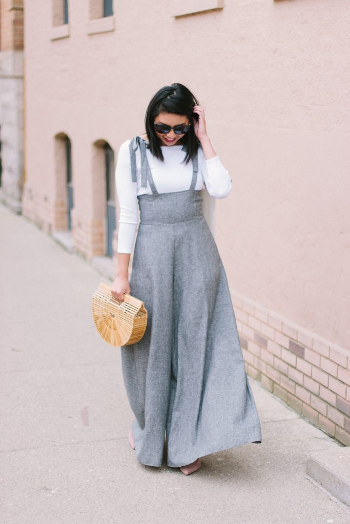 If you love high waisted wide-leg pants, this jumpsuit is for you