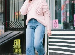 The Cutest Pom Pom Sweater and How to Wear Cropped Pants in the Winter