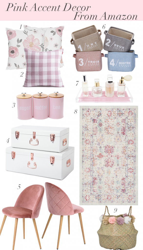 Pink Accent Decor From Amazon