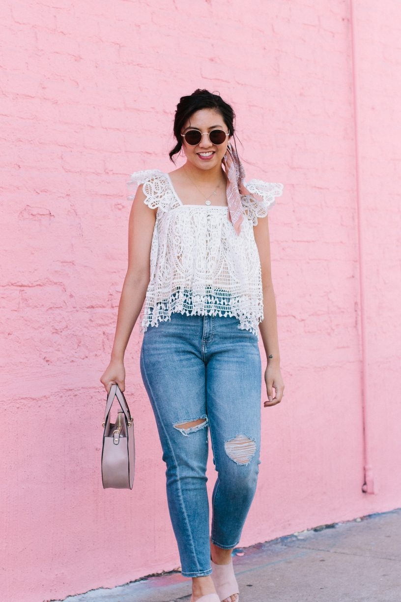 How to Wear This Crochet Cropped Top