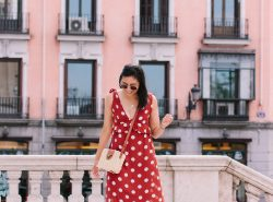 How to Wear a Polka Dot Maxi Dress