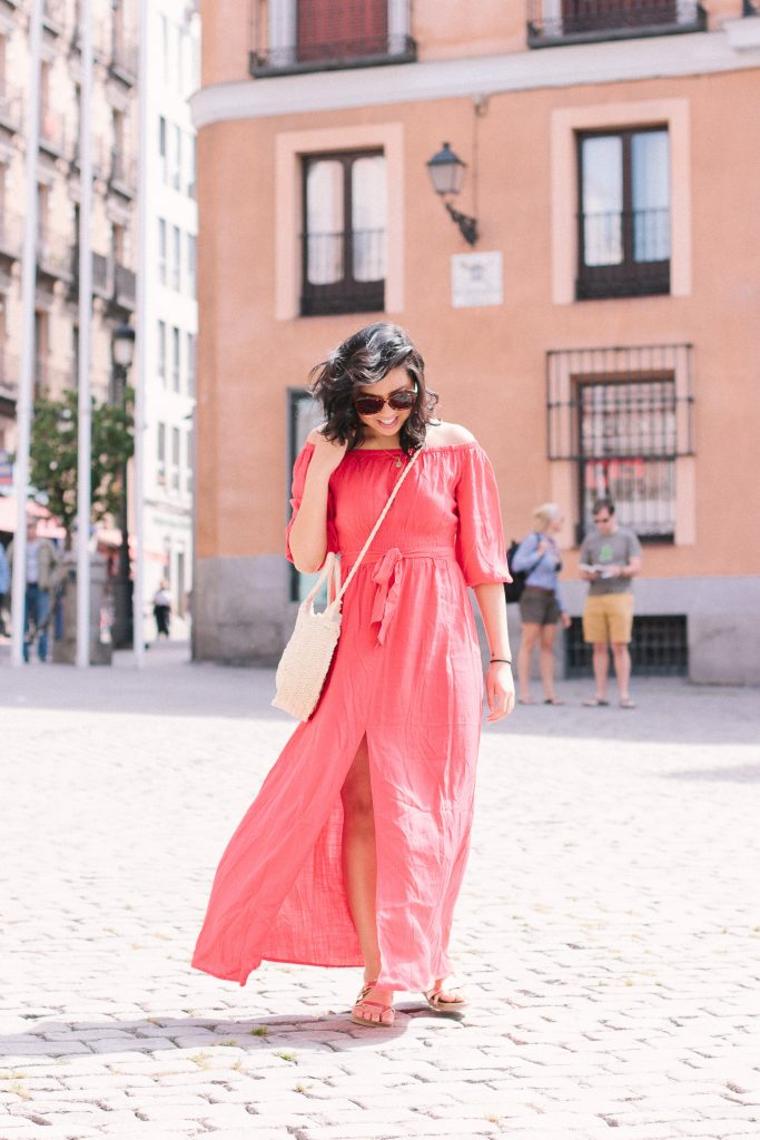 How I Wore My Off The Shoulder Maxi Dress.