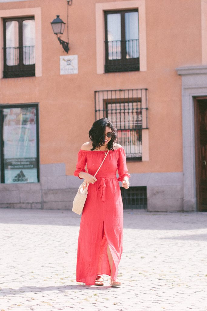 How I Wore My Off The Shoulder Maxi Dress