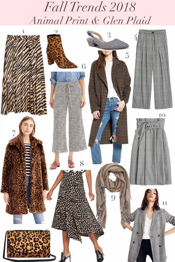 Fall 2018 Trends: Animal Print & Glen Plaid