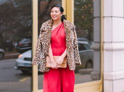 The Best Red Jumpsuit For The Holidays From The Gal Meets Glam Collection.