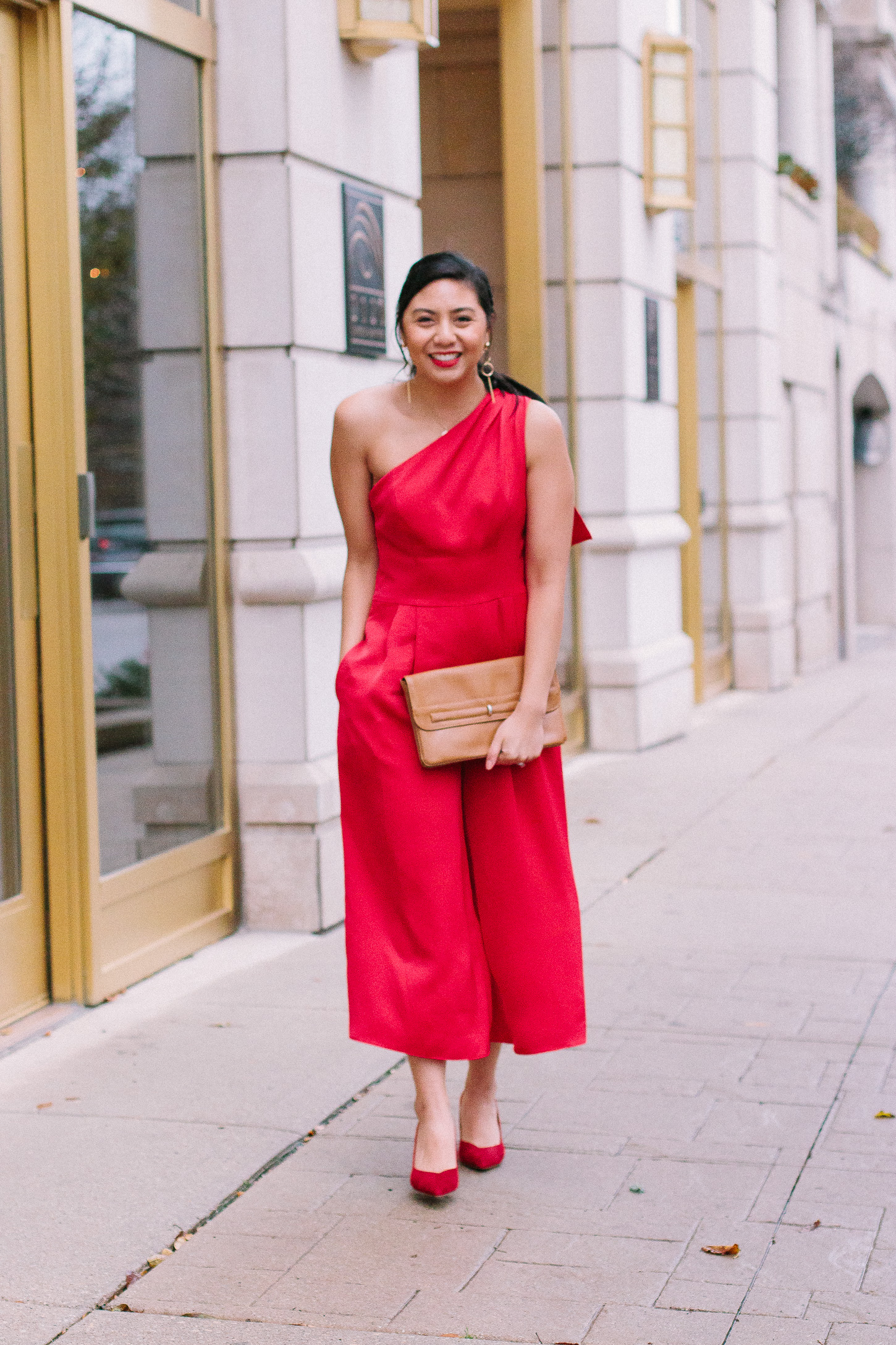 08cf3ea3c5fe The Best Red Jumpsuit For The Holidays From The Gal Meets Glam Collection.