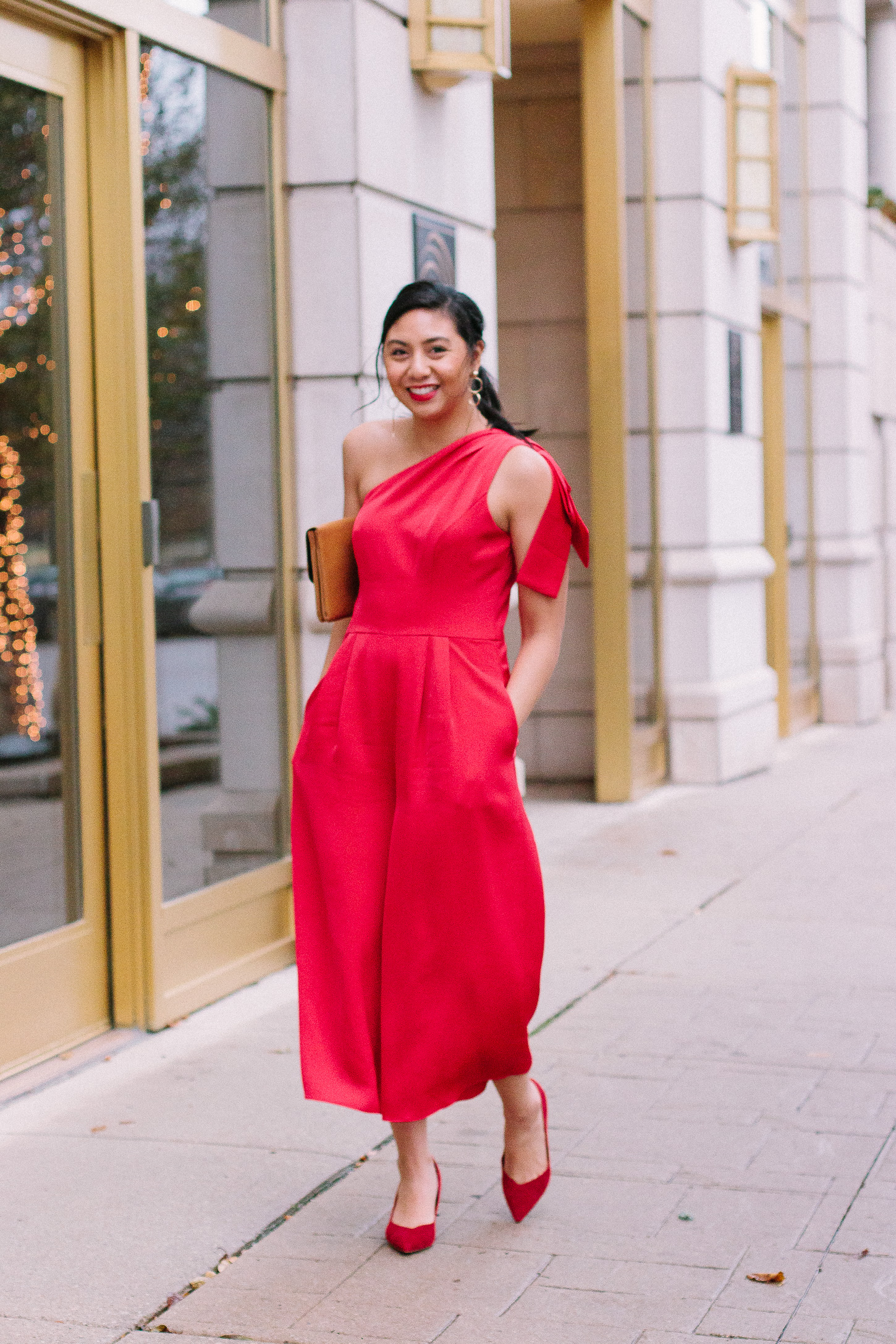 126cd3b95c2c The Best Red Jumpsuit For The Holidays From The Gal Meets Glam Collection.