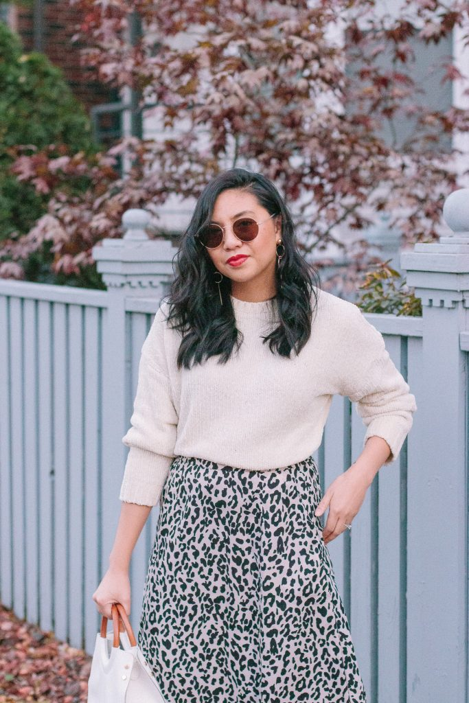 How to Style a Leopard Print Skirt