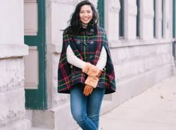 Talbots Holiday Plaid Cape - Talbots Friends & Family Sale.