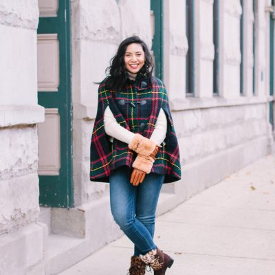 Talbots Holiday Plaid Cape: Friends & Family Event