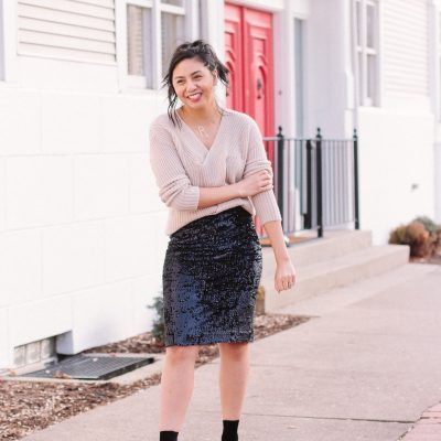 My Favorite Way To Wear A Sequin Pencil Skirt