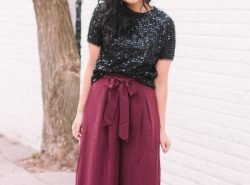 How to Wear Sequins & Wide-Leg For The Holidays. NYE Outfit.