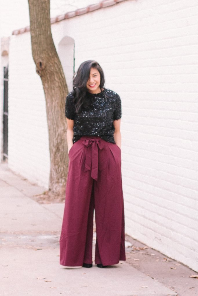 4ced7802a4 How to Wear Sequins   Wide-Leg For The Holidays - RD s Obsessions