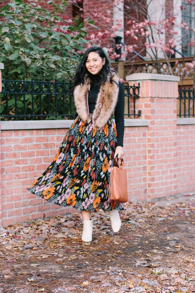 Floral Skirt: Atlantic-Pacific x Halogen