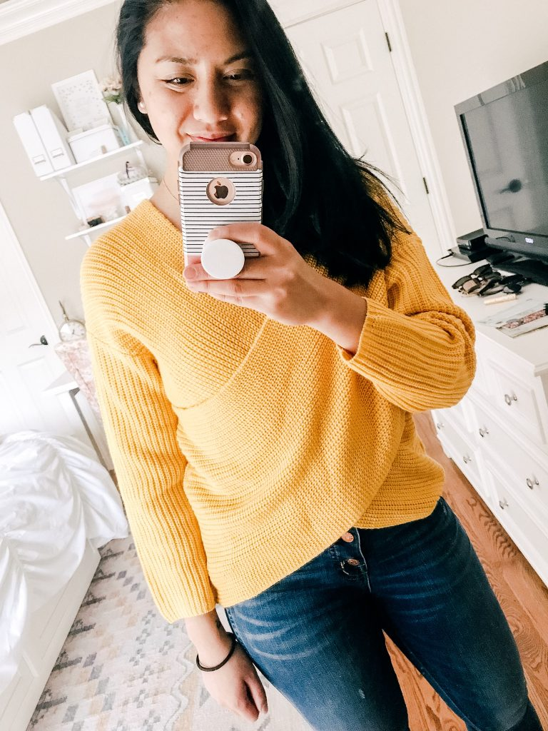 Amazon Sweaters Under $35. A Crossover Sweater.