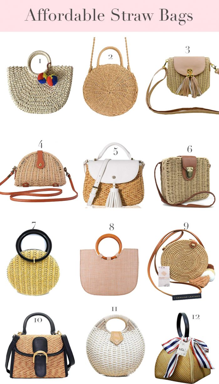 12 Cute and Affordable Straw Bags