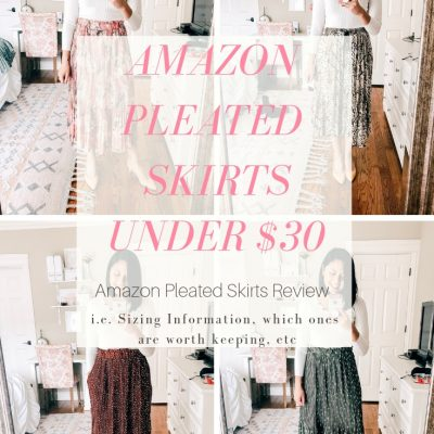 Amazon Pleated Skirts Under $30