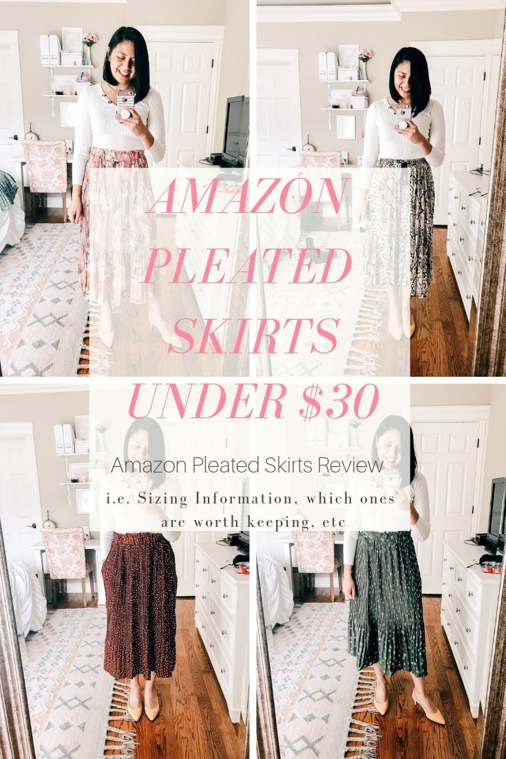 Amazon Pleated Skirts Review.