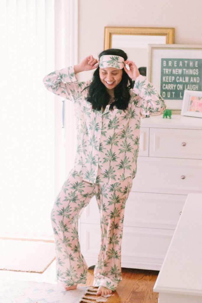 Palm Print Pajamas: Tropical Vibes In The Winter