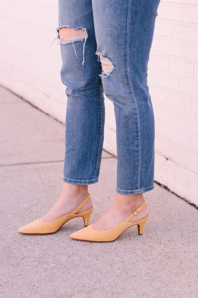 Favorite Spring Date Night Outfit - Most Comfortable Heels.