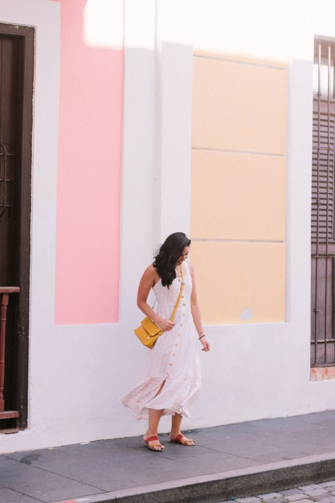 What I Wore In Puerto Rico - Maxi White Dress.