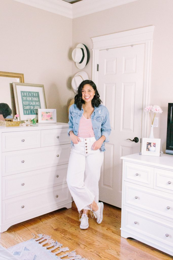 6 Ways To Style A Crop White Wide Leg Pants. How to wear crop white wide leg pants.