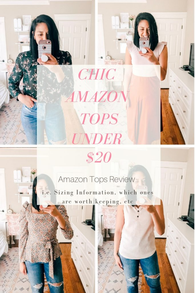 7 Chic Amazon Tops Under $20. Cute tops to buy at Amazon.