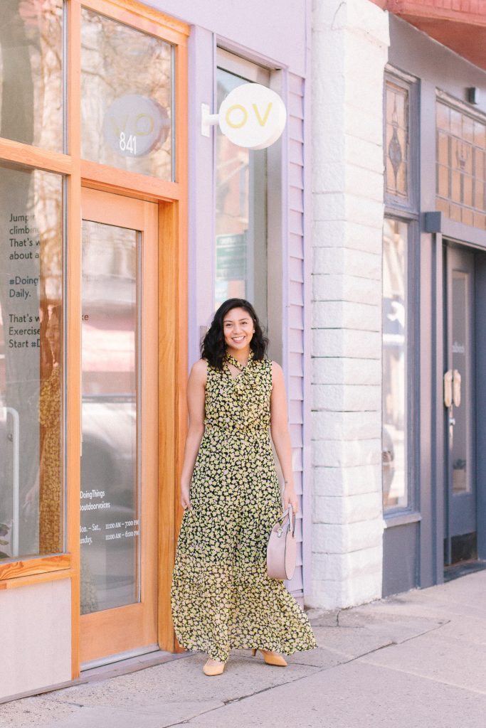Yellow Floral Maxi Dress featured