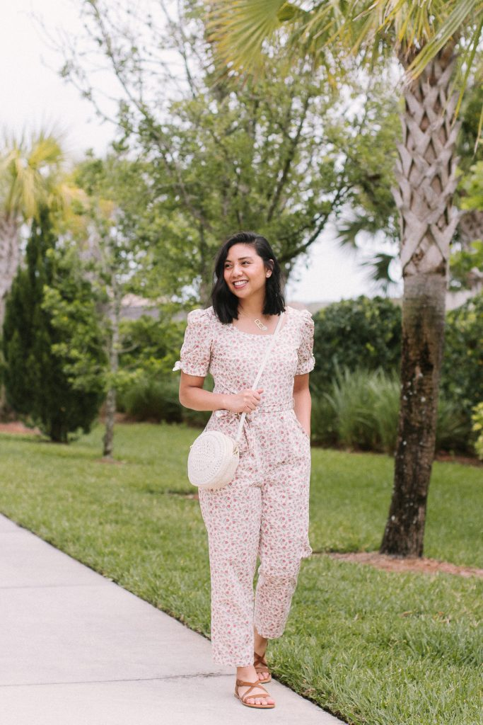 The Floral Print Jumpsuit That You Need This Spring. Gal Meets Glam Jumpsuits. Best Spring Trend. The most versatile Spring outfit. Iris Jumpsuit.