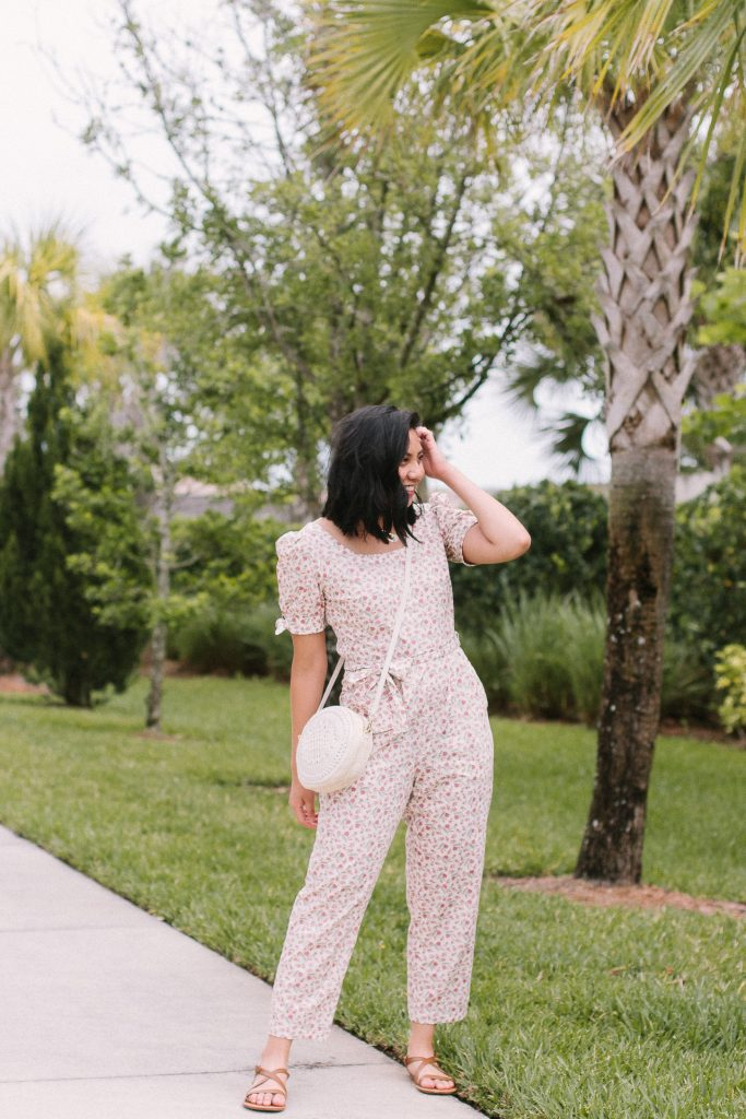 The Floral Print Jumpsuit That You Need This Spring. Gal Meets Glam Jumpsuits.