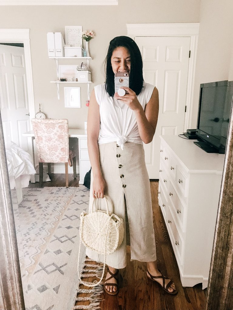 6 Ways To Style A High Waisted Midi Skirt For The Summer