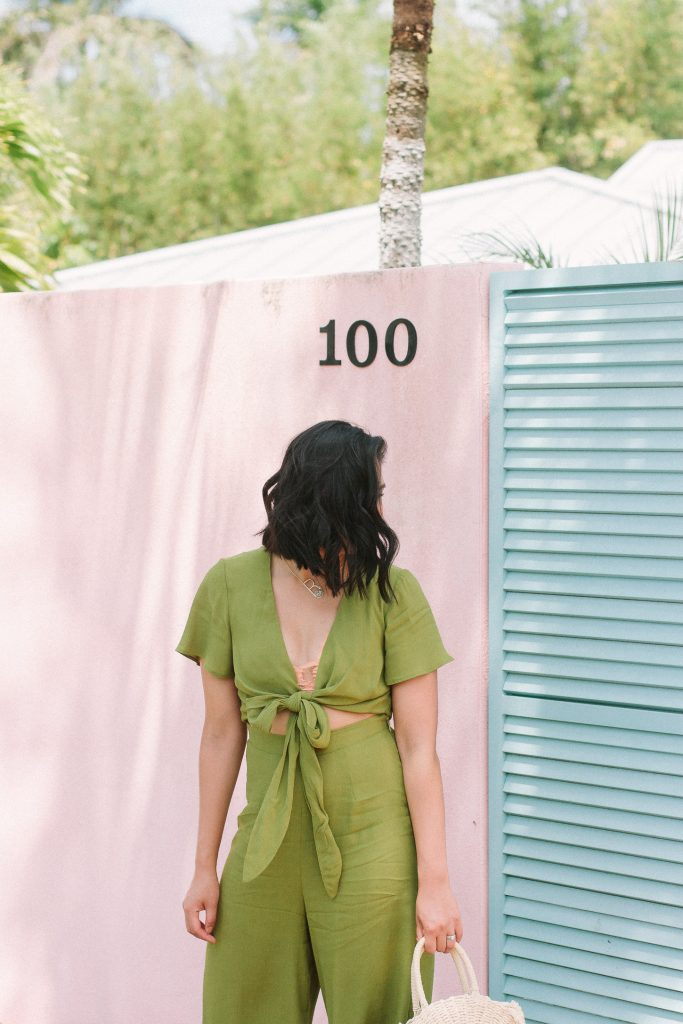 Rach is wearing a Val Jumpsuit from Show Me Your Mumu