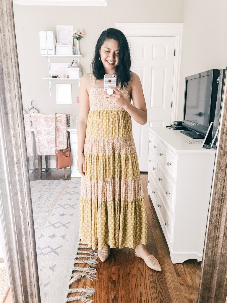 Madewell Summer Collection - Tiered Maxi Dress.