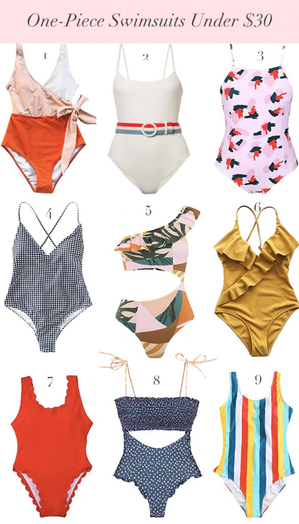 Affordable and Cute One-Piece Swimsuits Under $30 Found On Amazon. One Piece Swimsuit for 30 year old.