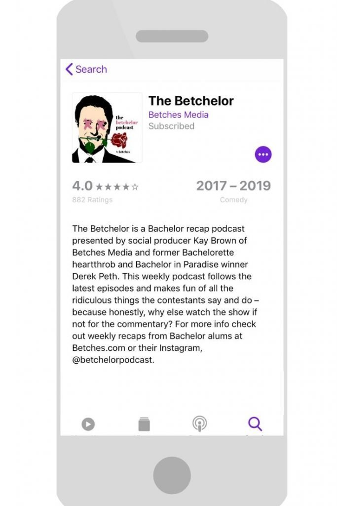 The Betchelor. Five Best Podcast
