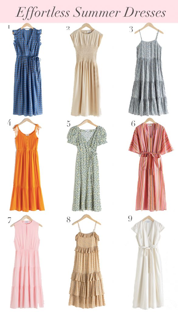 9 Effortless Feminine Summer Dresses