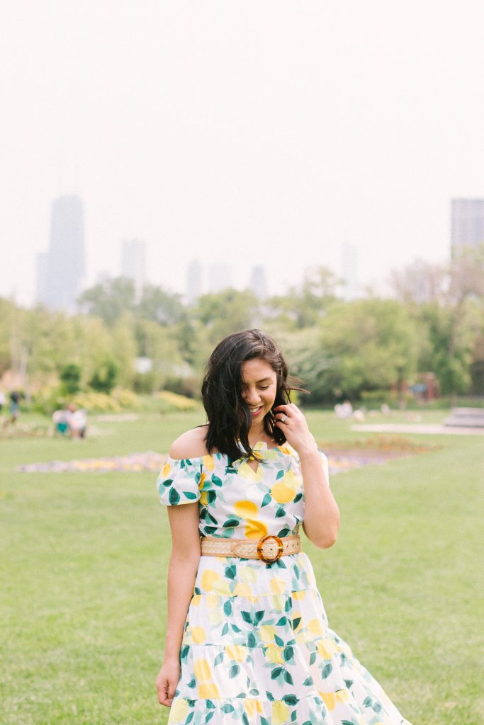 Lemon Print Top From Who What Wear Collection